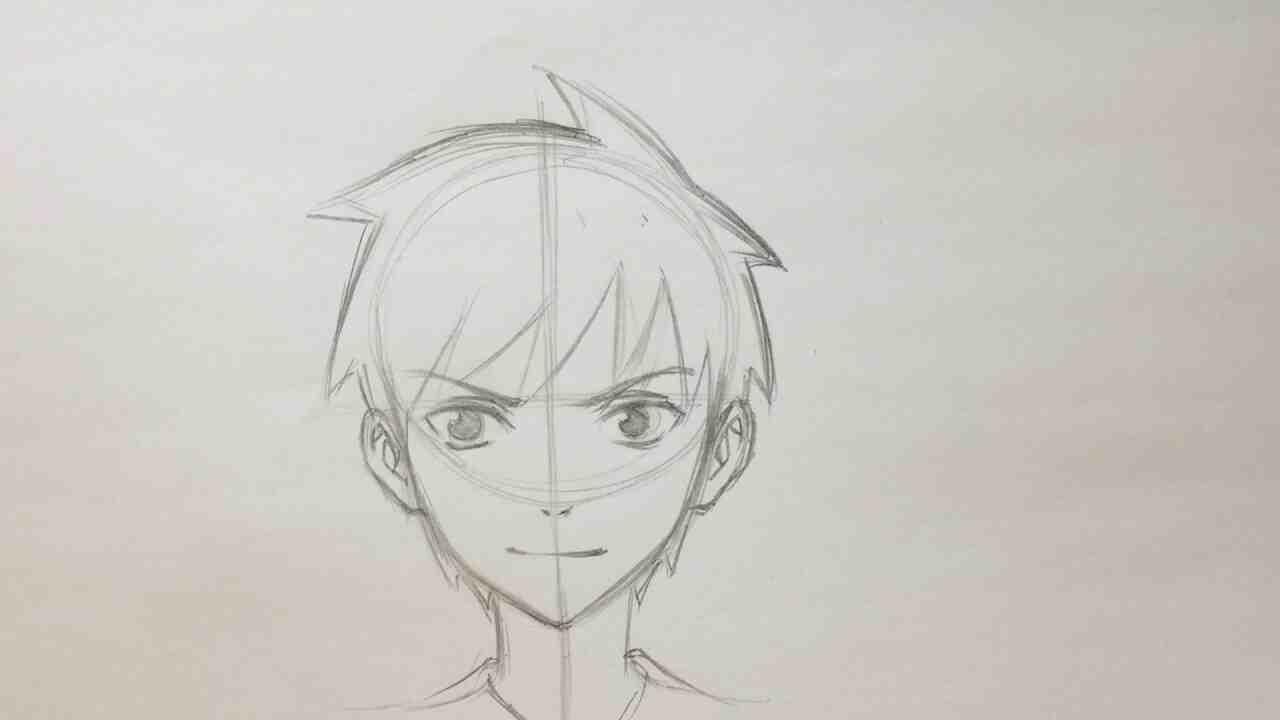 Comment dessiner un visage manga garçon